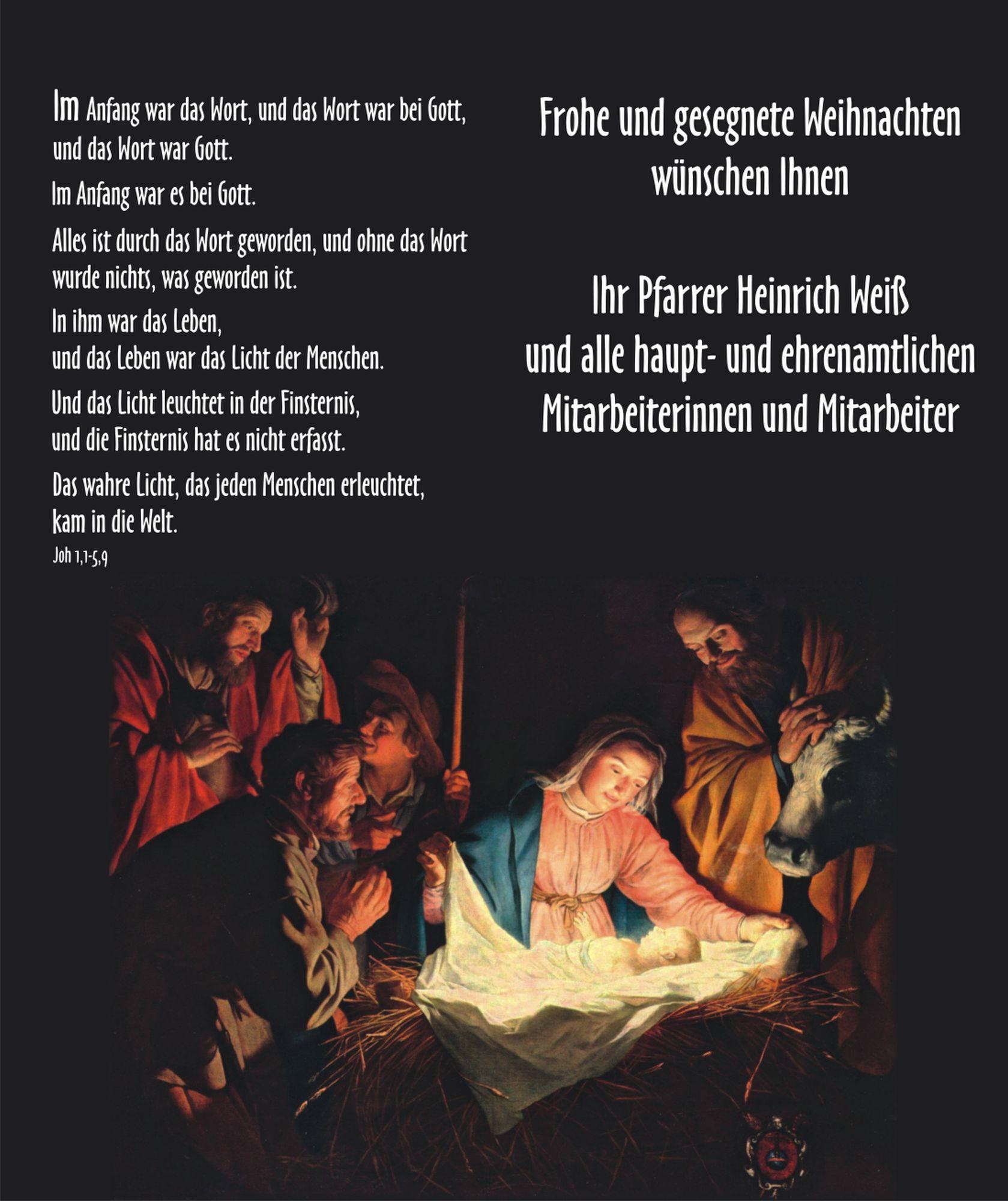 Frohe Und Gesegnete Weihnachten.Frohe Und Gesegnete Weihnachten Pfarreiengemeinschaft Utting