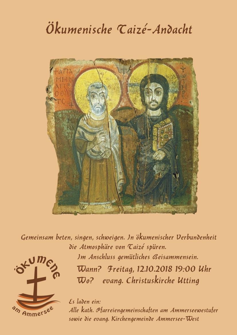 Herzliche Einladung zur ökumenischen Taizé-Andacht